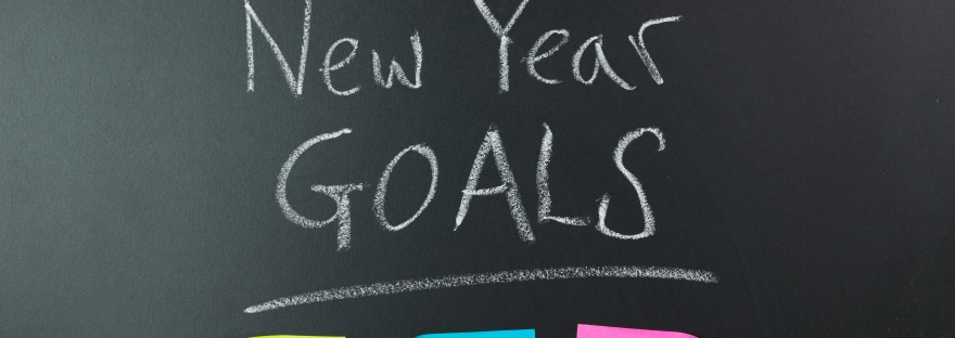 Graphic that says New Year Goals